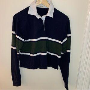 Brandy Melville // Cropped Stripe Polo Top